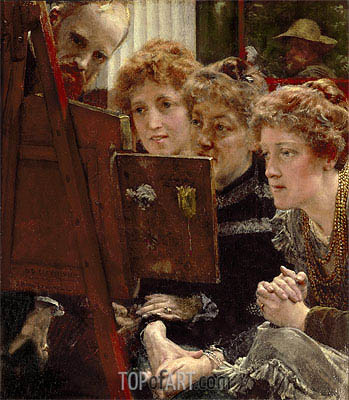 A Family Group, 1896 | Alma-Tadema| Painting Reproduction