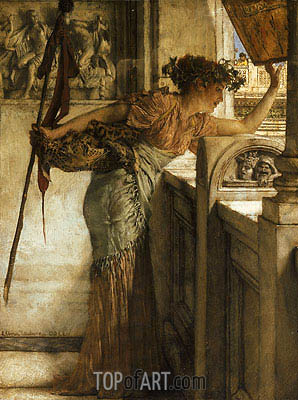 A Bacchante, 1875 | Alma-Tadema| Painting Reproduction