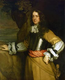 Flagmen of Lowestoft: Vice-Admiral Sir William Berkeley, c.1665/66 by Peter Lely | Painting Reproduction