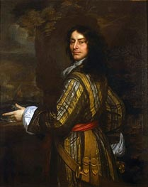 Flagmen of Lowestoft: Admiral Sir John Harman, 1666 by Peter Lely | Painting Reproduction