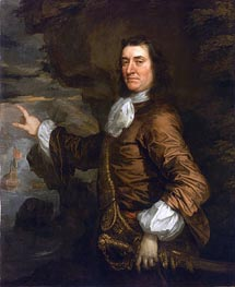 Flagmen of Lowestoft: Admiral Sir Thomas Allin, 1665 by Peter Lely | Painting Reproduction