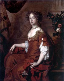 Portrait of Queen Mary II, 1677 by Peter Lely | Painting Reproduction