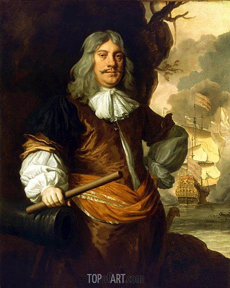 Portrait of Cornelis Tromp, c.1675 | Peter Lely | Painting Reproduction