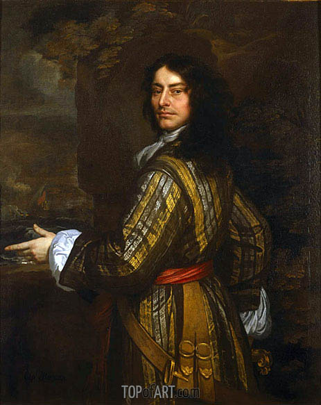 Flagmen of Lowestoft: Admiral Sir John Harman, 1666 | Peter Lely | Painting Reproduction