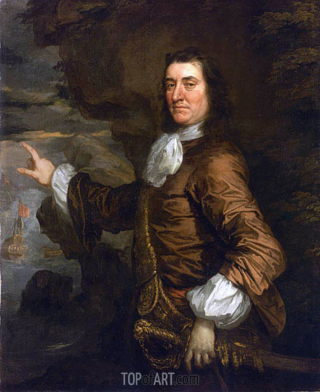 Flagmen of Lowestoft: Admiral Sir Thomas Allin, 1665 | Peter Lely | Gemälde Reproduktion