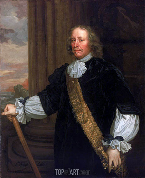 Flagmen of Lowestoft: Vice-Admiral Sir Joseph Jordan, 1666 | Peter Lely | Painting Reproduction