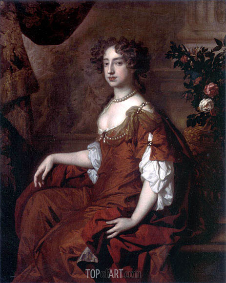 Portrait of Queen Mary II, 1677 | Peter Lely | Painting Reproduction