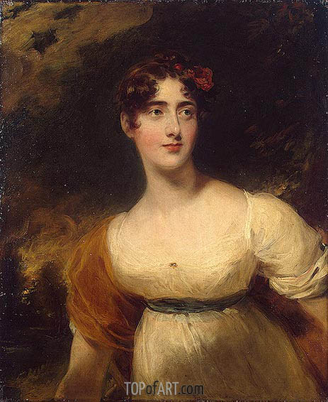 Portrait of Emily Harriet Wellesley-Pole, 1814 | Thomas Lawrence | Painting Reproduction