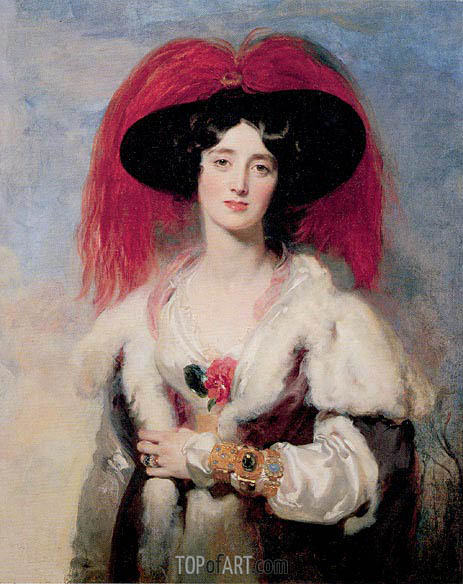 Lady Peel, 1827 | Thomas Lawrence | Painting Reproduction