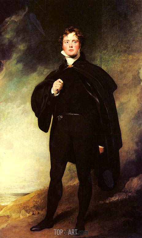 Thomas Lawrence | Portrait Of George Nugent Grenville, Lord Nugent, undated