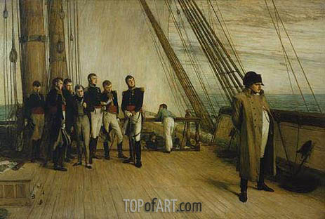 Napoleon on Board the Bellerophon, 1880 | Quiller Orchardson | Painting Reproduction