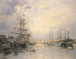 The Port of Caen, 1859 von Lepine | Gemälde-Reproduktion