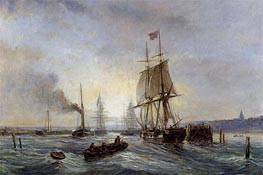 Entrance to the Port | Lepine | Painting Reproduction