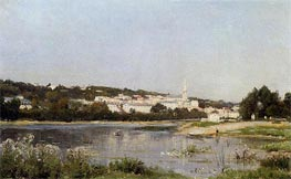 The Banks of the Seine at Saint Cloud, c.1872/77 von Lepine | Gemälde-Reproduktion