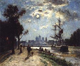 Le Log de l'Orne peint depuis le cours Caffarelli, c.1872/76 by Lepine | Painting Reproduction