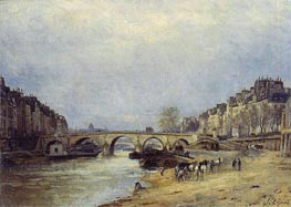The Seine at Pont Marie | Lepine | Gemälde Reproduktion