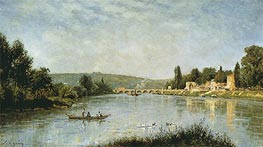 The Seine at the Pont de Sevres, c.1876/80 von Lepine | Gemälde-Reproduktion