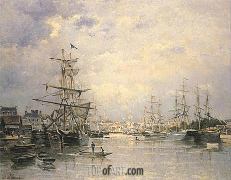 Lepine | The Port of Caen, 1859