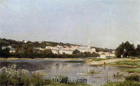 The Banks of the Seine at Saint Cloud, c.1872/77 | Lepine | Gemälde Reproduktion
