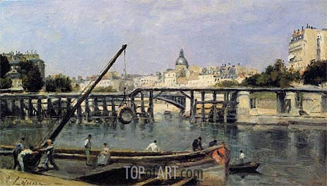 The Seine, c.1870 | Lepine | Painting Reproduction