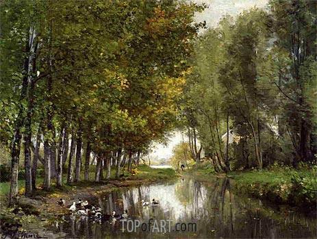 Bras de Seine du cote de Neuilly, c.1878/82 | Lepine | Painting Reproduction