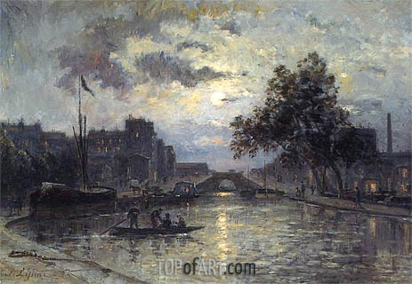 Nocturn, undated   Lepine   Painting Reproduction