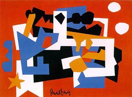 Colonial Cubism, 1954 by Stuart Davis | Painting Reproduction
