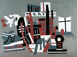 New York Waterfront, 1938 by Stuart Davis | Painting Reproduction