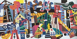 Swing Landscape | Stuart Davis | Painting Reproduction