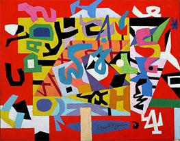 Pad No. 4, 1947 by Stuart Davis | Painting Reproduction
