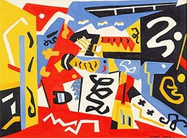 Composition, Undated by Stuart Davis | Painting Reproduction