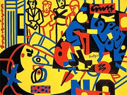 Tropes de Teens  | Stuart Davis | Painting Reproduction