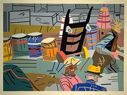 The Terminal, 1937 by Stuart Davis | Painting Reproduction