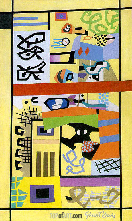 G & W, 1944 | Stuart Davis | Painting Reproduction