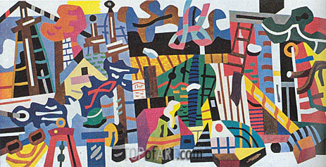 Swing Landscape, 1938 | Stuart Davis | Painting Reproduction