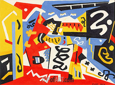 Composition,  | Stuart Davis | Painting Reproduction