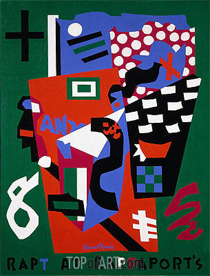 Rapt at Rappaport's, 1952 | Stuart Davis | Painting Reproduction