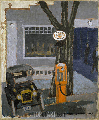Garage No. 1, 1917 | Stuart Davis | Painting Reproduction