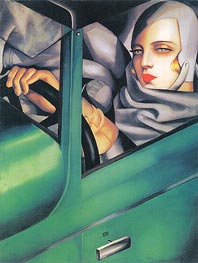Autoportrait (Tamara in the Green Bugatti), 1925 by Lempicka | Painting Reproduction