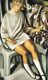 Kizette on the Balcony, 1927 by Lempicka | Painting Reproduction