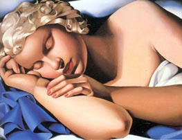 The Sleeping Girl Kizette, c.1933 von Lempicka | Gemälde-Reproduktion