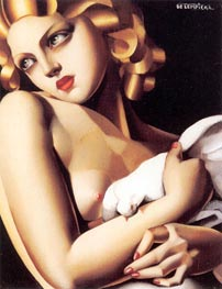 Woman with Dove, 1931 by Lempicka | Painting Reproduction