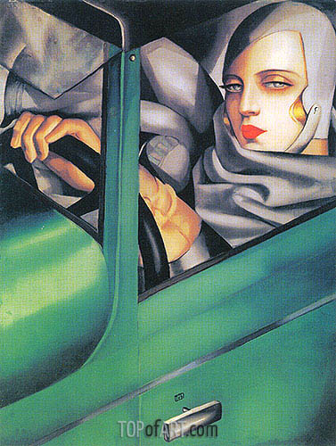 Autoportrait (Tamara in the Green Bugatti), 1925 | Lempicka | Painting Reproduction