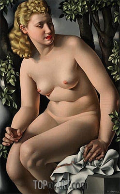 Suzanne Bathing, c.1938 | Lempicka | Painting Reproduction