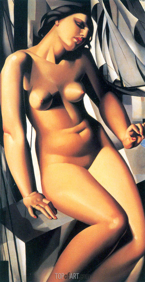Nude with Sailboats, 1931 | Lempicka | Gemälde Reproduktion