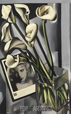 Arlette Boucard with Arums, 1931 | Lempicka | Painting Reproduction