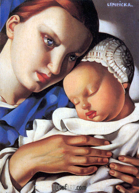 Mother and Child, 1931 | Lempicka | Gemälde Reproduktion