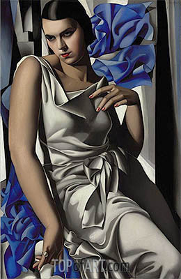 Portrait of Mrs M, 1932 | Lempicka | Gemälde Reproduktion