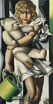 Portrait of Miss Poum Rachou, 1933 | Lempicka | Painting Reproduction