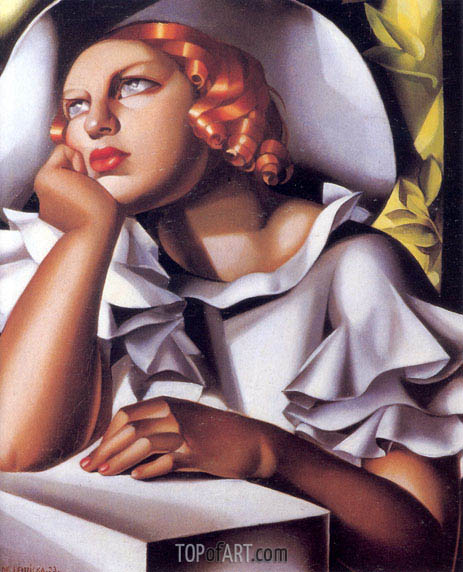 Wide Brimmed Hat, 1933 | Lempicka | Painting Reproduction